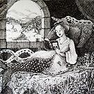 Melusine Reading Dante's Inferno by Fiona McDonald