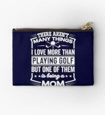 Funny I Love Being A Golf Mom Studio Pouch