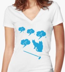 Thundercats in Iconography Women's Fitted V-Neck T-Shirt