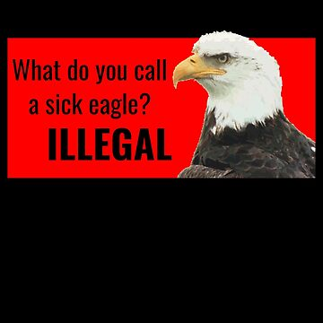 Sick Eagle Funny Eagle Pun by DogBoo