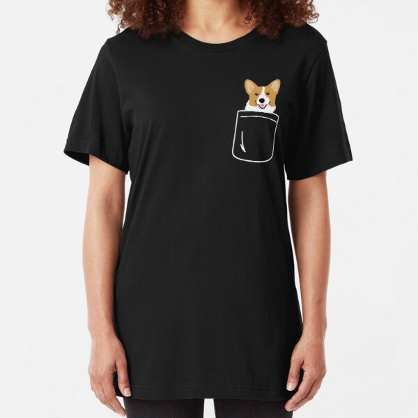 Dog in Pocket Slim Fit T-Shirt