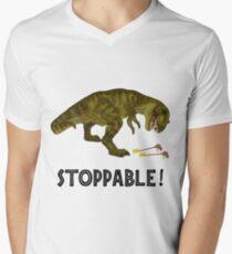 Tyrannosaurus Rex is Stoppable Men's V-Neck T-Shirt