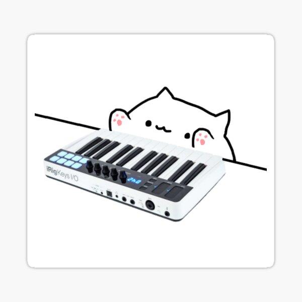 piano cat Sticker