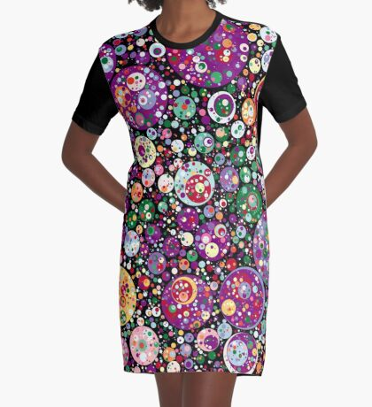 Points on a Circle 016 Graphic T-Shirt Dress