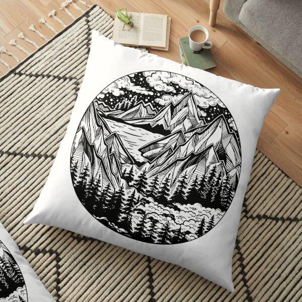 Vintage outdoors nature. Floor Pillow