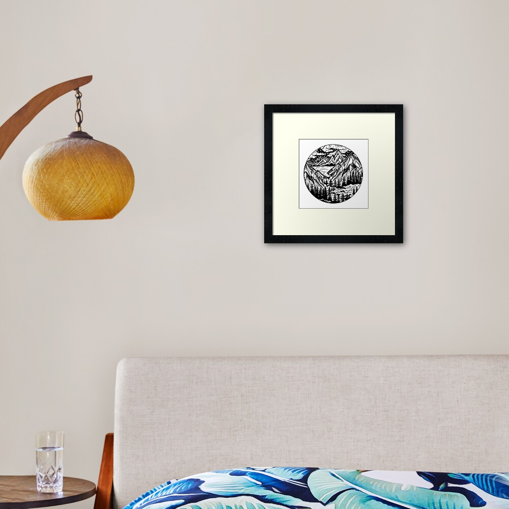 Vintage outdoors nature. Framed Art Print