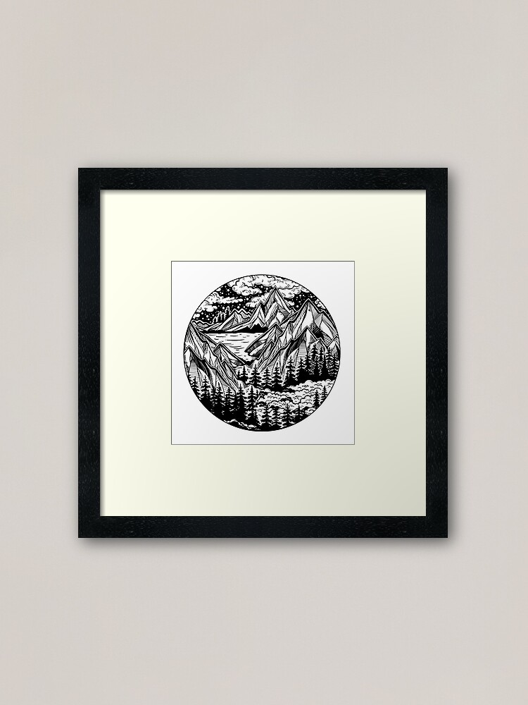 Alternate view of Vintage outdoors nature. Framed Art Print