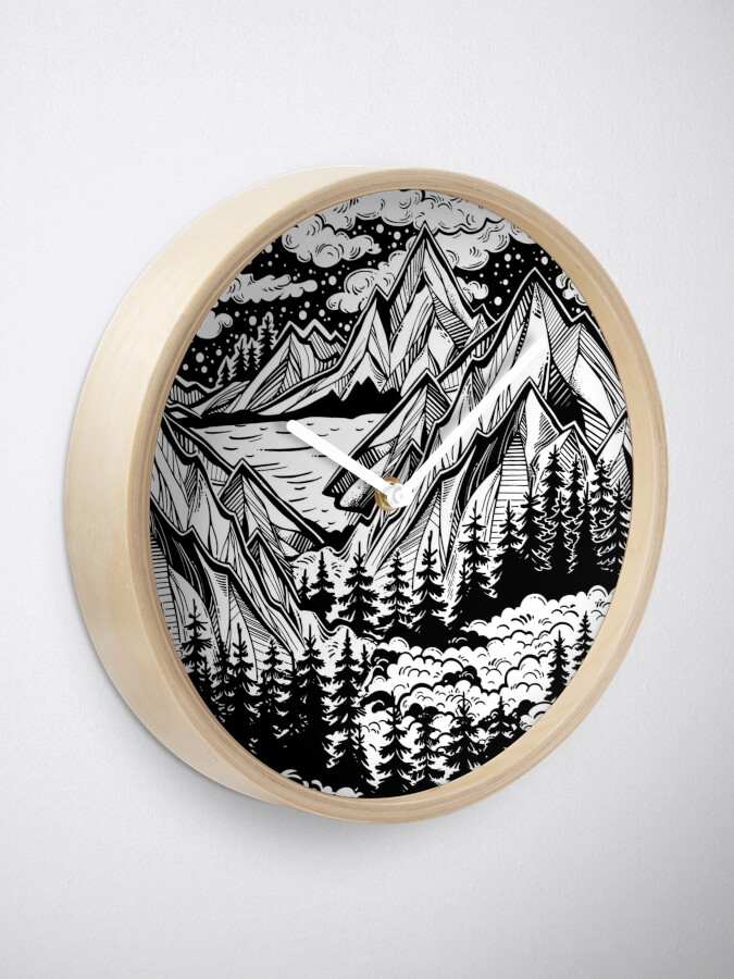 Alternate view of Vintage outdoors nature. Clock