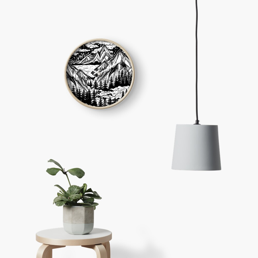Vintage outdoors nature. Clock