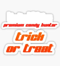 Halloween premium candy hunter Sticker