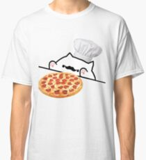 Bongo Cat Pizza Chef Classic T-Shirt