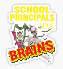 School Principal Halloween  Sticker