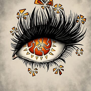 Weird Eye Of Fractured Lava | Digital Art by azzza