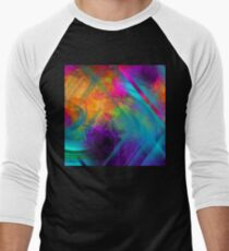 The Color Of My Love Live-Abstract  Art + Products Design  Men's Baseball ¾ T-Shirt