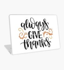 Bible Verse - Always Give Thanks Laptop Skin