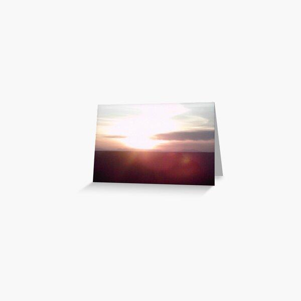 Sunset Blast Greeting Card