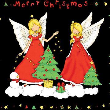 Christmas angel by NovaPaint