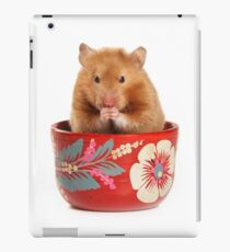 Funny red-haired hamster iPad Case/Skin