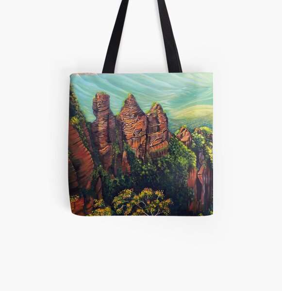 Timeless, Blue Mountains All Over Print Tote Bag