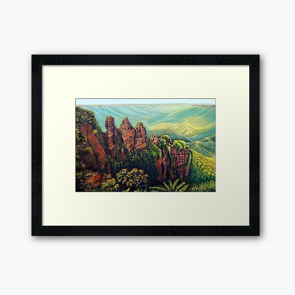 Timeless, Blue Mountains Framed Art Print
