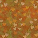 Gifts with hearts.Background with hearts. by starchim01