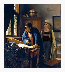 The Doctor and Vermeer's Geographer Photographic Print