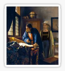 The Doctor and Vermeer's Geographer Sticker