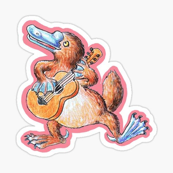 Platypus Minstrel Sticker