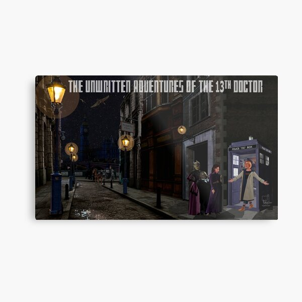 The 13th Doctor and the Paternoster Detective Agency Metal Print