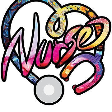 Colorful Nurse Appreciation Nursing Gift T-shirt by Plistshirts