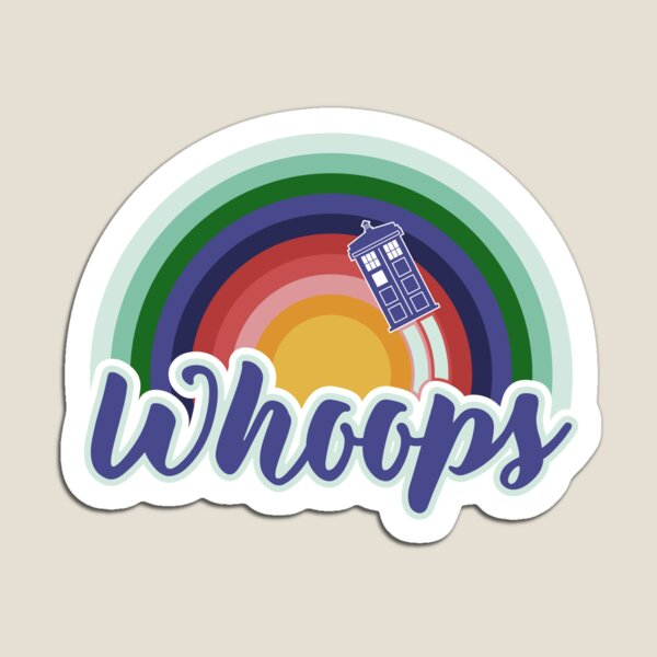 Retro Whoops Magnet