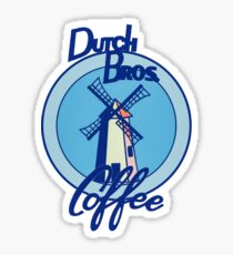 Blue windmill Dutch bros t shirt design websites  Sticker