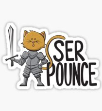 Ser Pounce Sticker