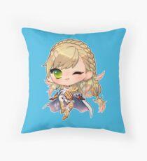 little anime girl Throw Pillow