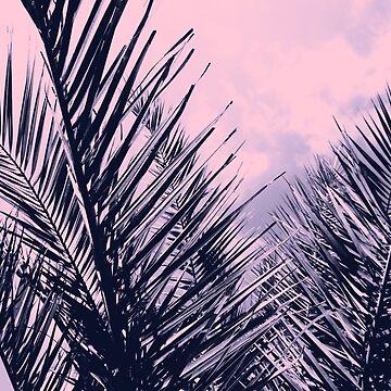 Summer Palms - Cali Vibes #2 #tropical #decor #art by anitabellajantz
