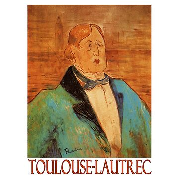 Portrait of Oscar Wilde by Henri de Toulouse-Lautrec by Chunga