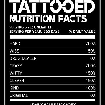 Tattooed Nutrition Facts by stoneyy