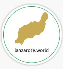 Sticker lanzarote.world - logo Sticker