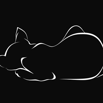 Sleeping cat (black version) by lents