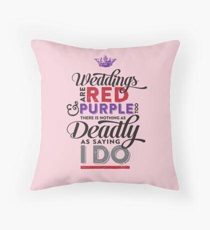Deadly Weddings Throw Pillow