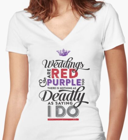 Deadly Weddings Women's Fitted V-Neck T-Shirt