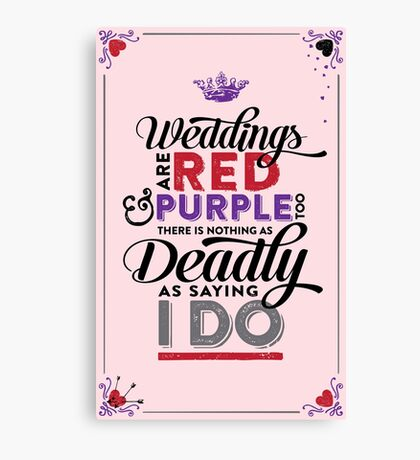 Deadly Weddings Canvas Print