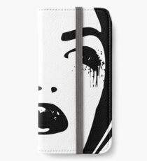 Black Ink Portrait #1 (Gridlocked) iPhone Wallet/Case/Skin
