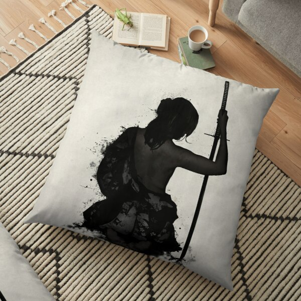Female Samurai - Onna Bugeisha Floor Pillow