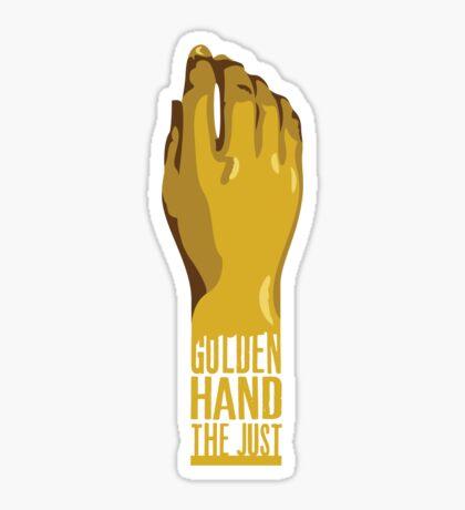 Golden Hand the Just Sticker