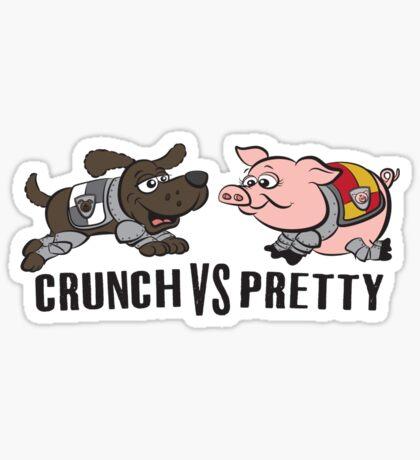 Crunch VS Pretty Sticker
