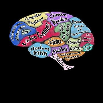 Geek Brain - Geek Thinking Brain Design by gallerytees