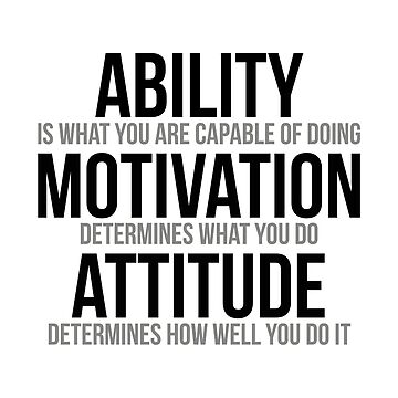 Ability Is What You Are Capable Of Doing, Motivation Quotes, Attitude Quotes, Office Decor, Office Wall Art, Office Decor Ideas by motiposter
