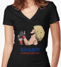 khabib nurmagomedov the eagle Women's Fitted V-Neck T-Shirt
