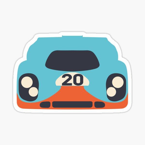 Le Mans Porsche Sticker